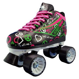 Pacer Heart Throb Womens Derby Roller Skates, Black, 256