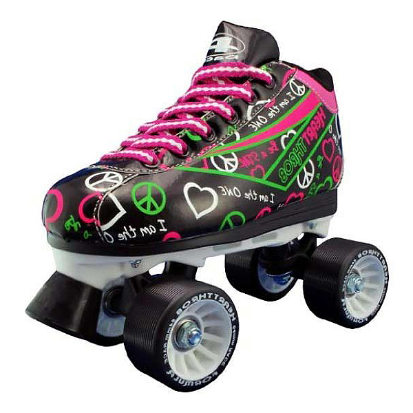Pacer Heart Throb Womens Derby Roller Skates, Black, 600