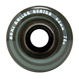 Riedell Moxi Juicy Roller Skate Wheels - 4 Pack, Smoke, 256