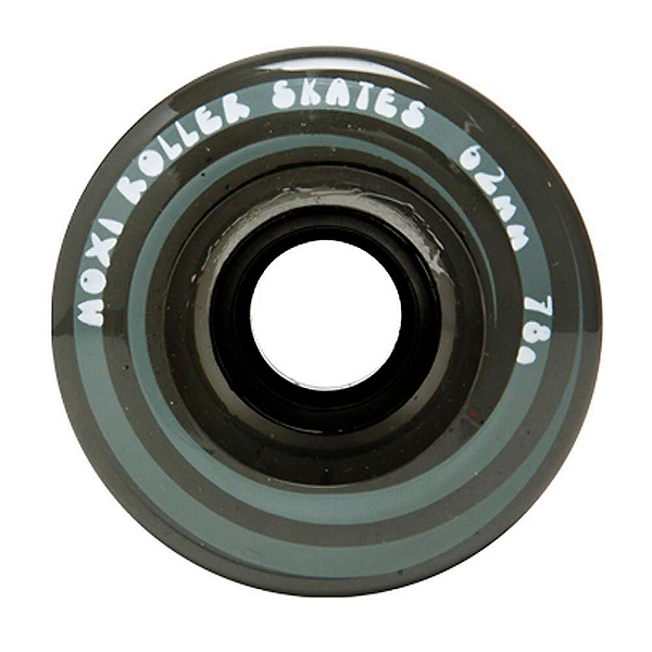 Riedell Moxi Juicy Roller Skate Wheels - 4 Pack, Smoke, 600