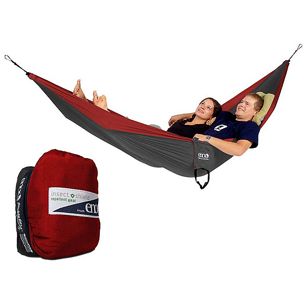 ENO Double Nest with Insect Shield Hammock, Red-Charcoal, 600