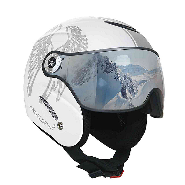 OSBE Proton Angel Devil Helmet, White Pearl-Silver Glitter, 600