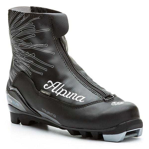 Alpina T 20 Eve Womens NNN Cross Country Ski Boots, Black-Silver-Blue, 600