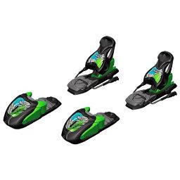 Marker 7.0 Free Junior Ski Bindings, Black-Green-Blue, 256