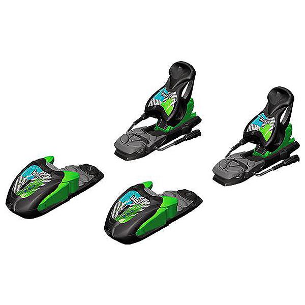 Marker 7.0 Free Junior Ski Bindings, Black-Green-Blue, 600