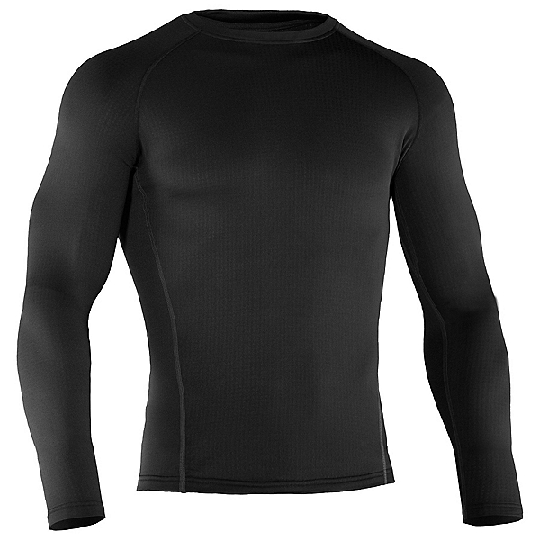 Under Armour Base 2.0 Crew Mens Long Underwear Top, Black, 600