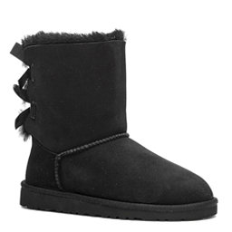 UGG Bailey Bow Girls Boots, Black, 256