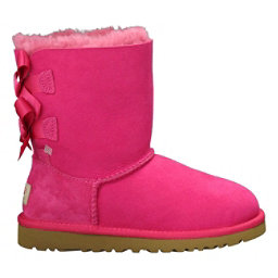 UGG Bailey Bow Girls Boots, Cerise, 256