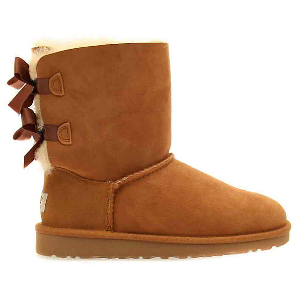 UGG Bailey Bow Girls Boots, Chestnut, 600