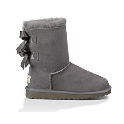 UGG Bailey Bow Girls Boots, Grey, 256