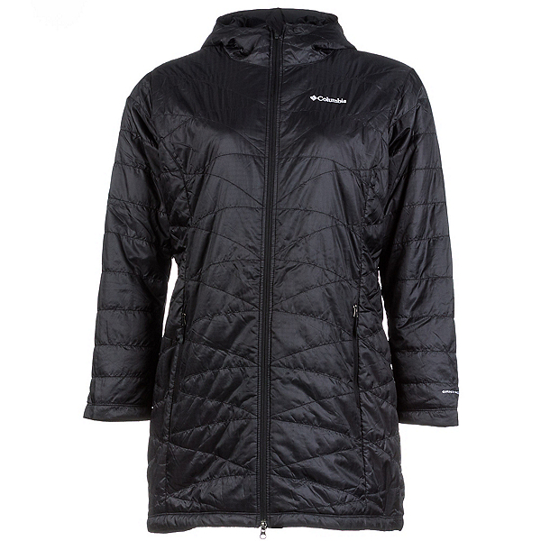 Columbia Mighty Lite Hooded Plus Womens Jacket, Black, 600