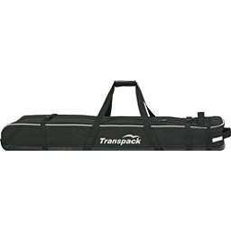 Transpack Ski Vault Double Pro Wheeled Ski Bag 2018, Black-Silver Electric, 256