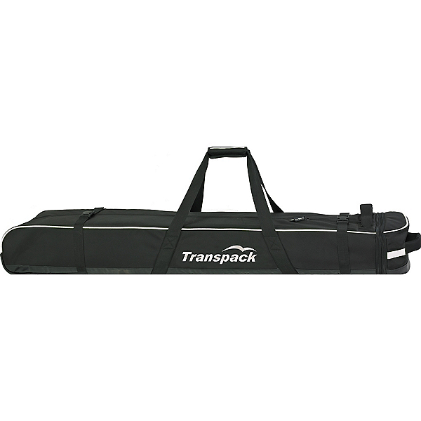 Transpack Ski Vault Double Pro Wheeled Ski Bag 2020, Black-Silver Electric, 600
