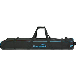 Transpack Ski Vault Double Pro Wheeled Ski Bag 2018, Black-Blue Electric, 256
