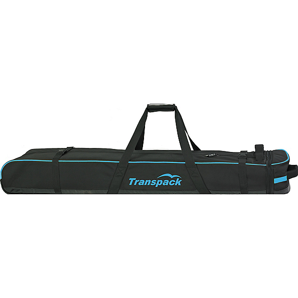 Transpack Ski Vault Double Pro Wheeled Ski Bag 2018, Black-Blue Electric, 600