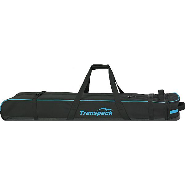 Transpack Ski Vault Double Pro Wheeled Ski Bag, Black-Blue Electric, 600