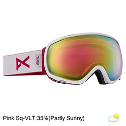 Anon Tempest Womens Goggles, White-Pink Sq, 256