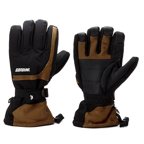 Gordini Tactic Gauntlet Gloves, Black-Tan, 600