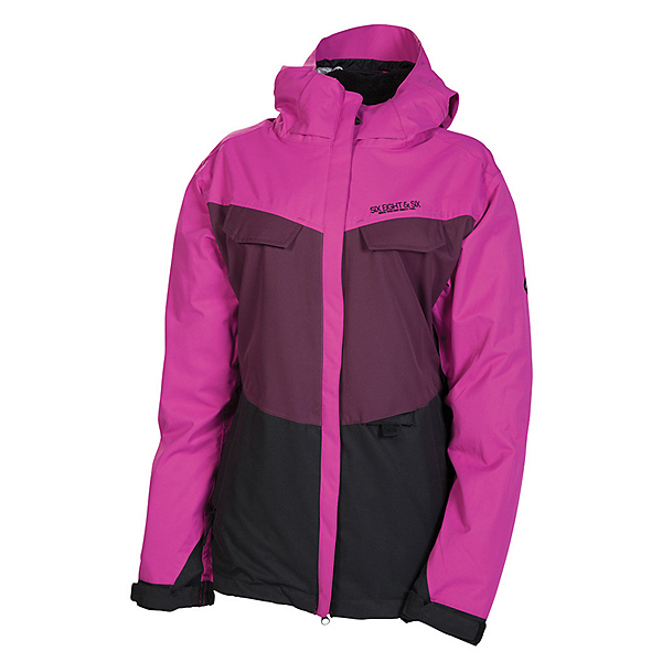 686 Smarty Command Womens Insulated Snowboard Jacket, Light Orchard Colorblock, 600