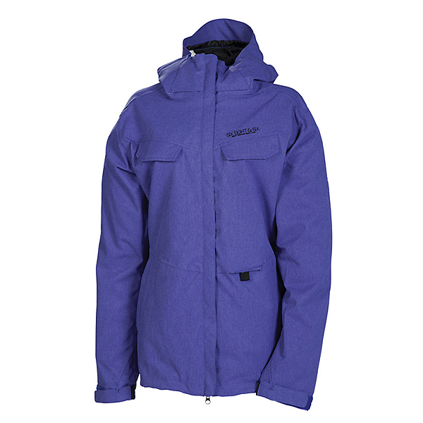 686 Smarty Command Womens Insulated Snowboard Jacket, Iris Texture, 600