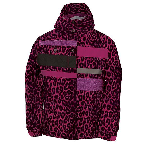 686 Mannual Anna Girls Snowboard Jacket, Rasberry Leopard, 600