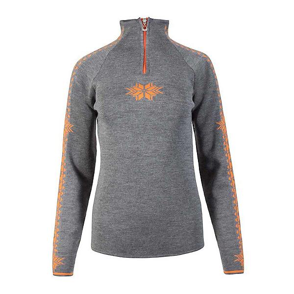 Dale Of Norway Geilo Womens Sweater, Smoke-Orange Peel, 600