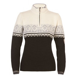 Dale Of Norway St. Moritz Feminine Womens Sweater, Black-Metal Gray-Off White, 256