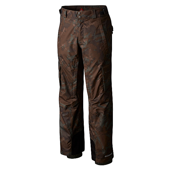 Columbia Ridge 2 Run II Big Mens Ski Pants, Gravel Camo, 600