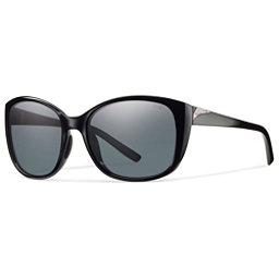 Smith Lookout Polarized Womens Sunglasses, Black-Polar Gray, 256