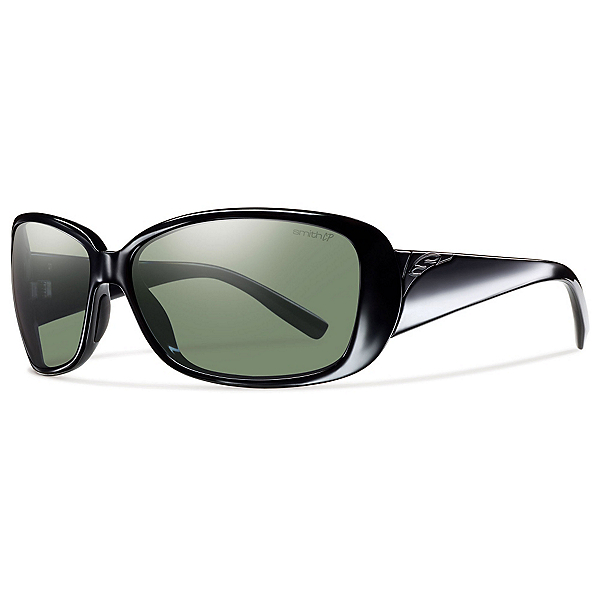 Smith Shorewood ChromaPop Womens Sunglasses, Black-Polar Gray Green, 600
