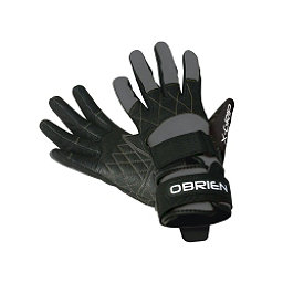 O'Brien Competitor X-Grip Water Ski Gloves 2018, Grey-Black, 256