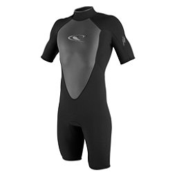 O'Neill Hammer Short Sleeve Spring Shorty Wetsuit, Black-Black-Black, 256