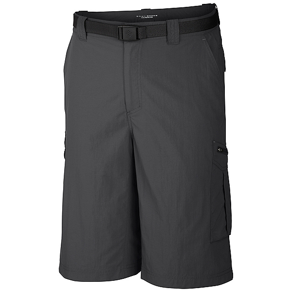 Columbia Silver Ridge Cargo 10 Inch Mens Shorts, Grill, 600