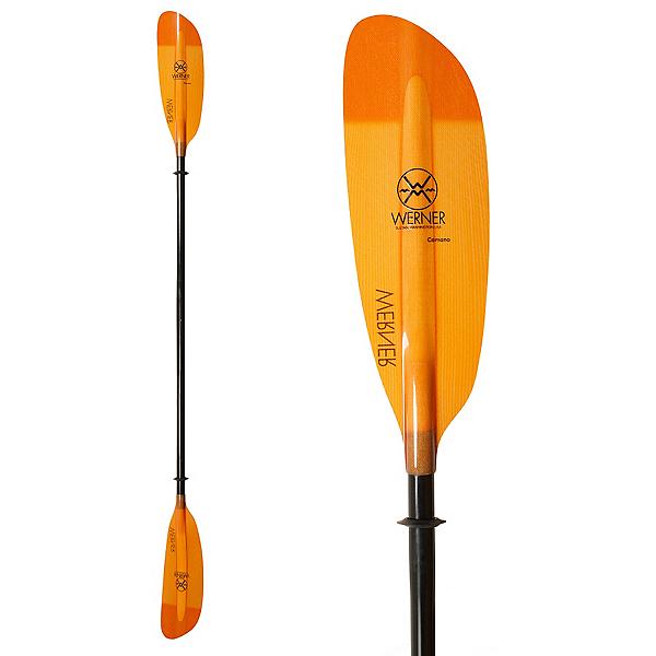 Werner Paddles Camano Bent 2PC Small Kayak Paddle, Orange, 600