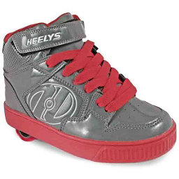 Heelys Fly Holiday, Gray-Red Patent, 256