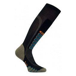 Euro Sock Silver Supreme Ski Socks, Black, 256