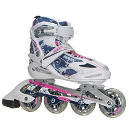 Roces Flos Womens Inline Skates, White-Blue-Pink, 256