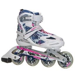 Roces Flos Womens Inline Skates, White-Blue-Pink, 256