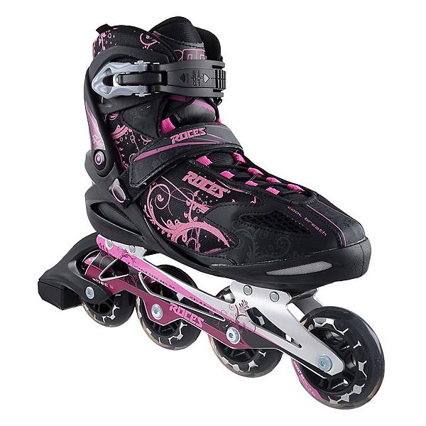 Roces Flos Womens Inline Skates, Black-Pink, 600