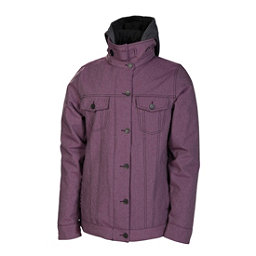 686 Reserved City Womens Insulated Snowboard Jacket, Plum Twill Denim, 256
