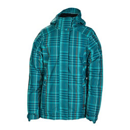 686 Reserved Ivy Womens Insulated Snowboard Jacket, Teal Plaid, 256