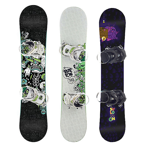 Used Premium Boys Snowboard and Binding Package Snowboard, , 600