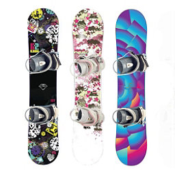 Used Premium Girls Snowboard and Binding Package Snowboard, , 256