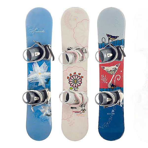 Used Basic Girls Snowboard and Binding Package Snowboard, , 600