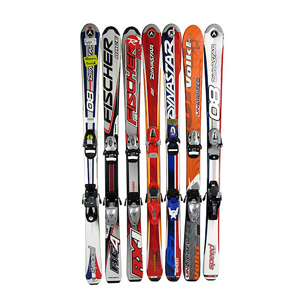 Used Boys Flat Kids Skis, , 600