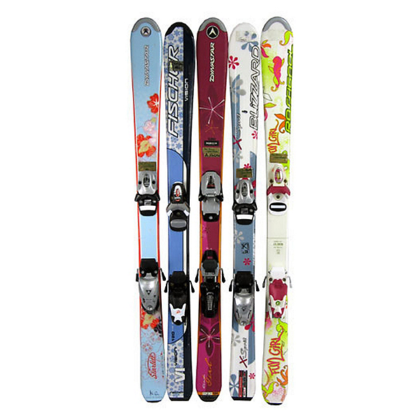 Used Girls Flat Girls Skis, , 600
