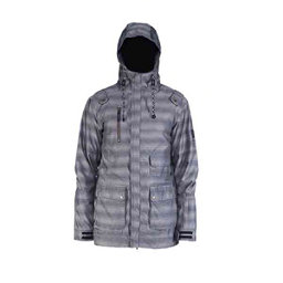 Cappel Magnificent Mens Shell Snowboard Jacket, Smoke Stripe, 256