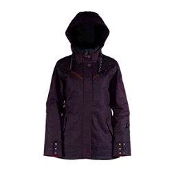 Cappel Cherry Bomb Womens Insulated Snowboard Jacket, Black Waxed Slub, 256