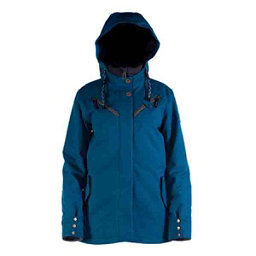 Cappel Cherry Bomb Womens Insulated Snowboard Jacket, Seaport Blue Melange, 256