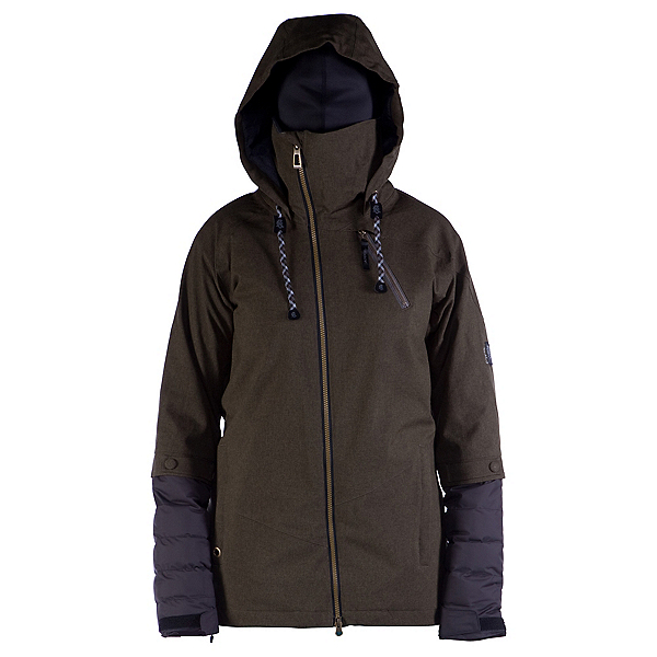 Cappel Heartbreak Womens Insulated Snowboard Jacket, Canteen Tweed, 600